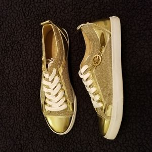 GUESS GOLD GLITTER SNEAKERS